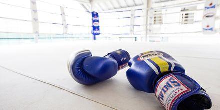 Nyrkkeilyä. Thanyapura Sport & Health Resort, Thalang, Thaimaa.