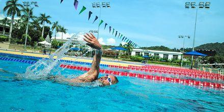 Thanyapura Sport & Health Resortissa on 50-metrinen ja 25-metrinen allas.