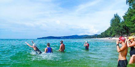 Avovesitreenausta Bangtao Beachillä. Thanyapura Sport & Health Resort, Thalang, Thaimaa.