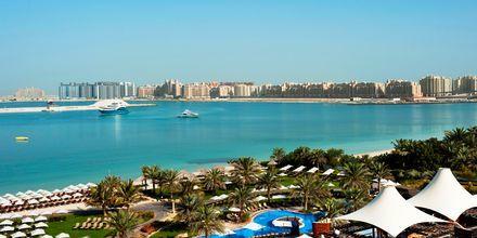Allasalue ja ranta. Hotelli The Westom Dubai Mina Seyahi. Dubai, Arabiemiraatit.