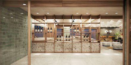 Havainnekuva baarista, Hotelli Theartemis Palace, Kreeta, Kreikka.