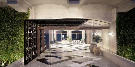 Havainnekuva sisäänkäynnistä, Hotelli Theartemis Palace, Kreeta, Kreikka.