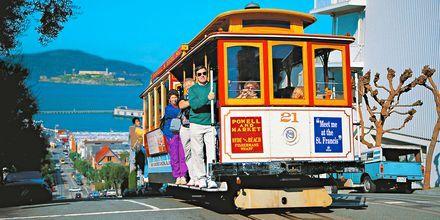 Vanha raitiovaunu, San Francisco, USA.