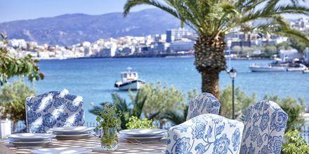 Ravintola, Hotelli Vasia Ormos, Agios Nikolaos, Kreeta.