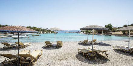 Läheinen ranta, Hotelli Vasia Ormos, Agios Nikolaos, Kreeta.