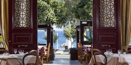 Ravintola. Hotelli Veggera, Santorini, Kreikka.