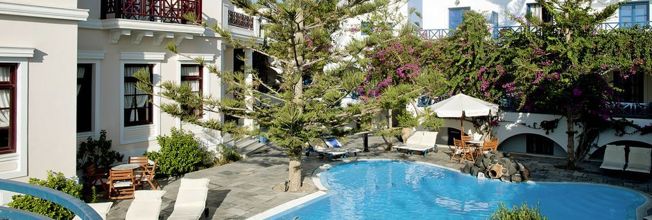 Allas. Hotelli Veggera, Santorini, Kreikka.