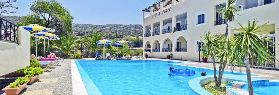 Hotelli Vergina, Karpathoksen kaupunki, Kreikka.