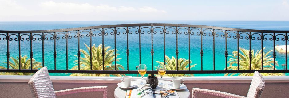 Pienehkö yksiö. Hotelli Villa David, Podgora, Makarskan Riviera.