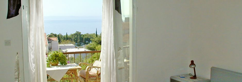 Hotelli Villa Mare, Tucepi, Makarskan Riviera, Kroatia.
