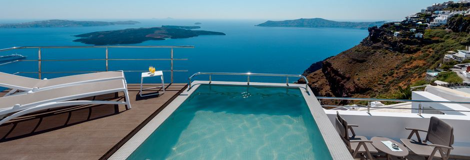 Hotelli Vistamare Suites, Santorini, Kreikka.