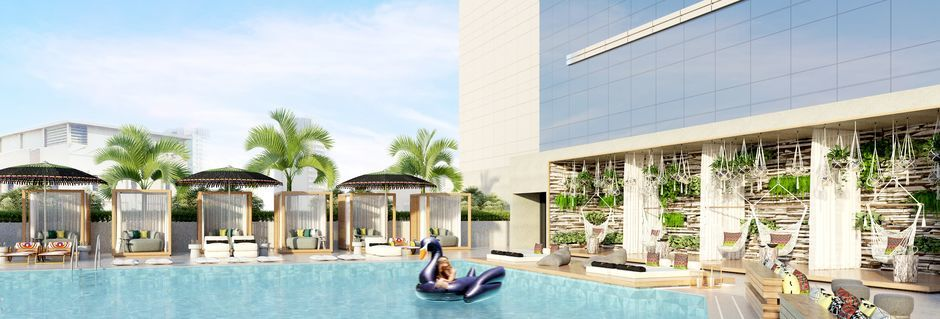Allas hotellilla Zabeel House by Jumeirah The Greens. Dubai.